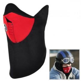 Cyklistická větruodolná teplá fleecová maska - červená + černá